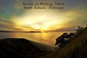 Sunrise at Ponteng Island